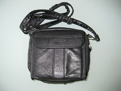 Cd Player And Cd Carry Case By Corniche Made From Synthetic Leather - Used