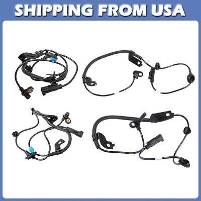 4x For 08-2011 Mitsubishi Lancer 2.0L 2.4L FWD Front+Rear ABS Wheel Speed Sensor