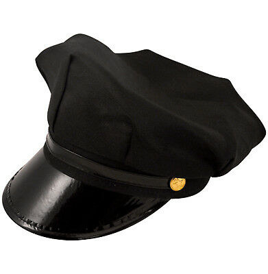 Mens Chauffeur Chaufeur Fancy Dress Driver Hat Black Stag Butler by Smiffys New