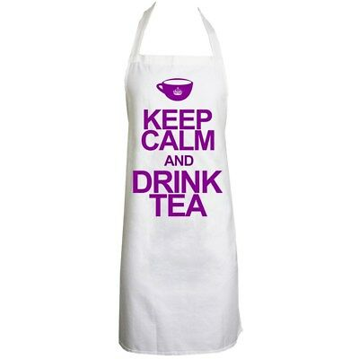 Apron Keep Calm And Drink Tea White