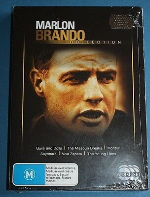 MARLON BRANDO Collection 6 Movies DVD NEW (The Young Lions, Viva Zapata etc)