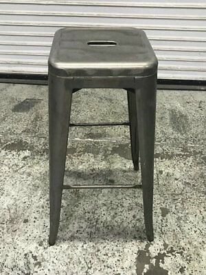 Bistro Style Metal Backless Bar Stool Gray Finish #8350 Commercial Seat Seating