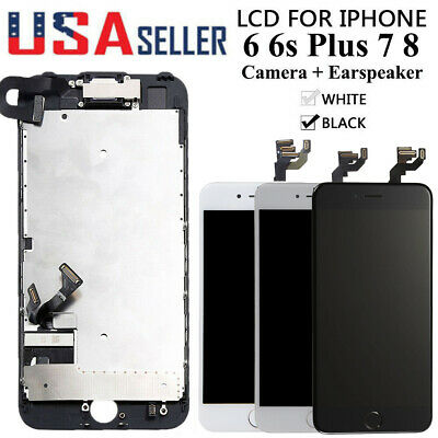 For iPhone 6 6S Plus 7 8 LCD Screen Full Replacement With Home Button & Camera