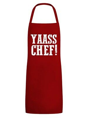 Apron Yaass Chef! Red