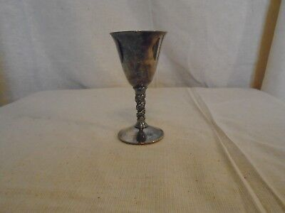 Silver Plated Goblet  By F. B. Rogers Made in Spain Engraved