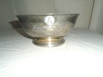 "Vintage Sheridan Silver Plated Winner 8"" Bowl Engraved"