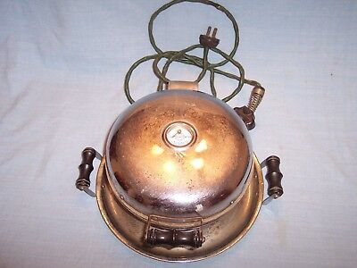 Rare Vtg Antique Griswold Electric Waffle Iron Skillet 1924 Block Logo Cooper