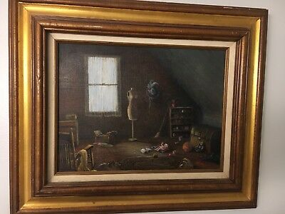"INTERIOR: OIL PAINTING ON CANVAS IN FRAME - Signed J. Timmons 20"" X 24"""