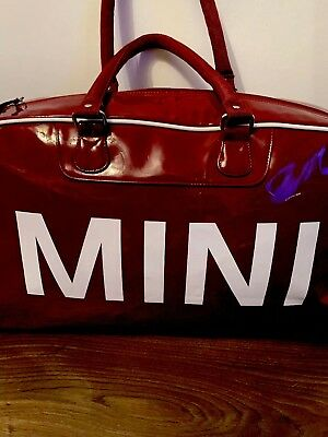 Bmw Mini Cooper Duffle Bag Tasche Lackmaterial In Brombeere Rot
