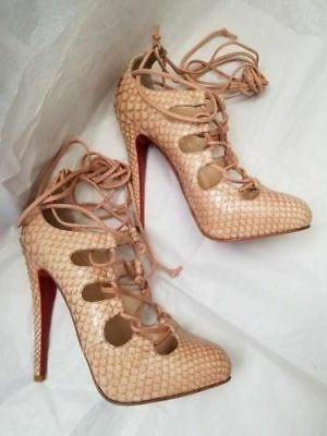 huge selection of d0c13 a5422 NEW! CHRISTIAN LOUBOUTIN Bloody Mary Python Snakeskin Heels EU 37.5 $1665 +  tax