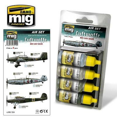 AMMO by Mig Paint Sets Luftwaffe WWII Late Color Air Set MINT