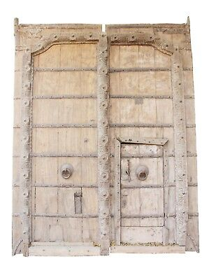 Vintage Handmade Door Wood Home Decor Collectible India US249WH