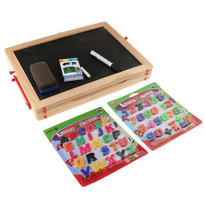 1 Set Kids Easel Wood 2in1 Blackboard Whiteboard Drawing Writing Chalk Board
