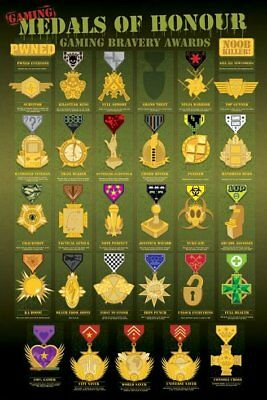 Poster Medals of Honour Gaming Bravery Awards 61 x 91.5cm