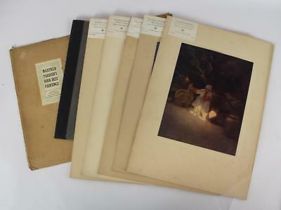 4 Antique MAXFIELD PARRISH Four Best Paintings Arabian Nights Lithographs
