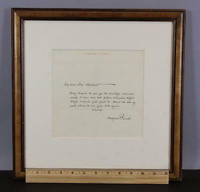 Antique Authentic Hand Written Maxfield Parrish Personal Letter to Mrs. Starrow