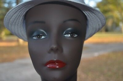 Vintage Style Female Mannequin Head Bust Wig Hat Jewelry Display. MOD#4A.