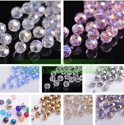 Wholesale 6mm Quality Czech Glass Faceted Round Ball Spacer Loose Beads Makings