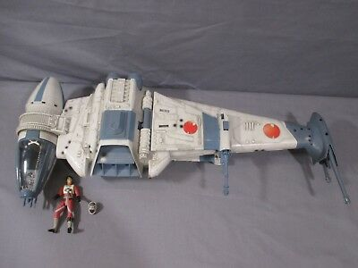 """Star Wars """"B-WING FIGHTER"""" Power of the Jedi 2001 Hasbro"""