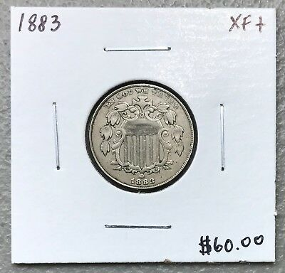 1883 U.s. Shield Nickel ~ Extra Fine Plus Condition! $2.95 Max Shipping! C1134