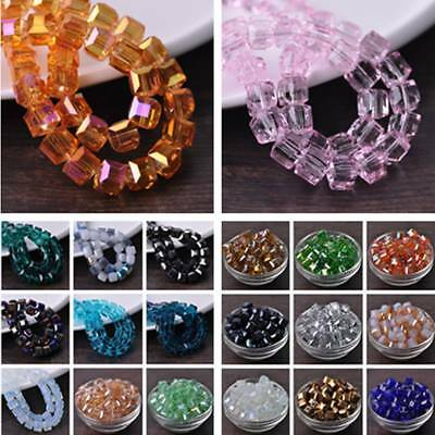 Wholesale 10pcs 10mm Faceted Cube Crystal Glass Loose Beads DIY Jewelry Making