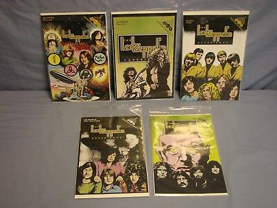 Revolutionary Comics THE LED ZEPPELIN EXPERIENCE Issues #1-5 SIGNED STEFFENHAGEN