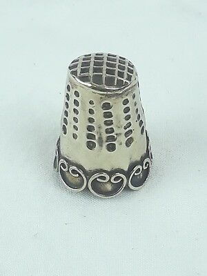 Antique Hecho En Mexico Sterling Silver Thimble Beautiful Silver Sewing Thimble