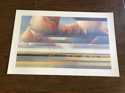 "Ed Mell Print ""clouds & Ravine"".  Vintage New Never Framed.  New Old Stock"