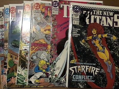 Teen Titans Lot, New Titans #66,67,68,69,70,71,72,73,Starfire, Annual