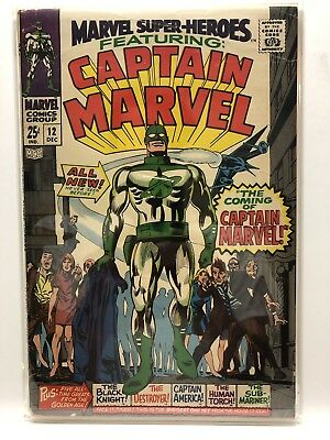 Marvel Super-Heroes #12 VG 4.0  1st app. Captain Marvel  1967  - Detached Cover