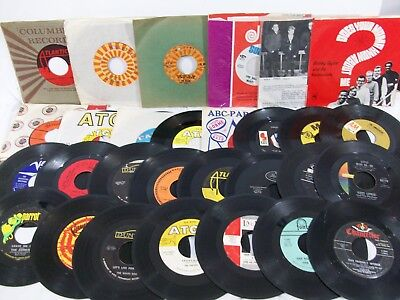 Lot Of 30 Records, 45 Rpm - 60's And Early 70's Rock N Roll Music