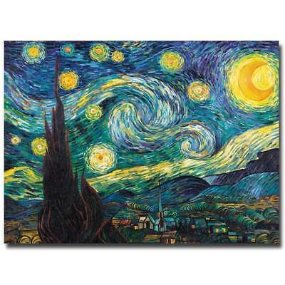 Starry Night Giclee Canvas Art by Vincent van Gogh - 18 x 24 [ID 182085]