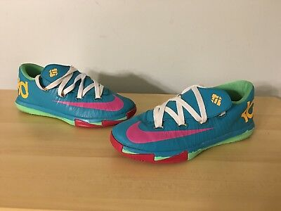 a08bdde1c91 Nike KD VI Hero Turbo Green Pink Size 2y Sneakers Basketball Shoes  599478-304