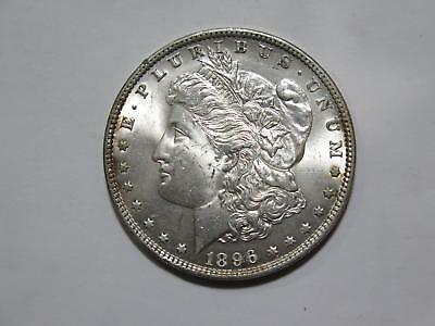 Morgan Dollar 1896 P $1 90% Silver Unc Type U.s. Mint Coin Collection Lot