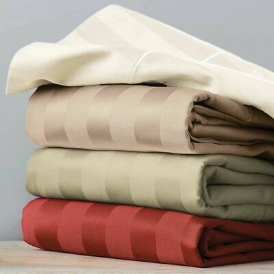 1000 Count 100% Egyptian Cotton 6 PCs Sheet Set Select US Size & Striped Color