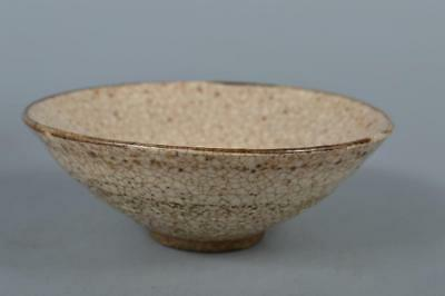 R6258: Japanese Old Shino-ware White glaze TEA BOWL Green tea tool Tea Ceremony