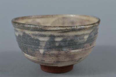R6275: Japanese Kiyomizu-ware White glaze TEA BOWL Green tea tool Tea Ceremony