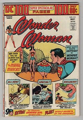 Wonder Woman #211 FN+ 6.5 nice copy 1974 DC 100-page Giant create-a-lot & save