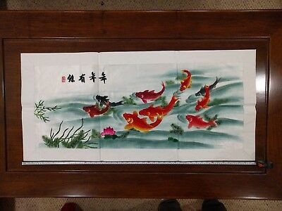Chinese silk embroidery art  18 * 42 large