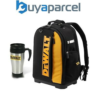 Dewalt DWST81690-1 Toolbag Rucksack Backpack Black Yellow + Thermos Flask Mug