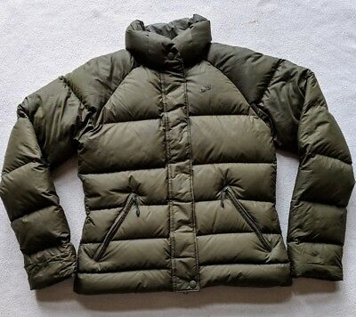 Nike 550 Fill Down Puffer Quilted Coat Jacket Women's S 4-6 Olive Snow WInter