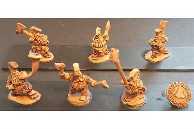 Battle Valor Dwarians 15mm Dwarian Forgiven w/Double Handed Axes Pack MINT