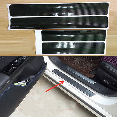5D Carbon Fiber Car Scuff Plate Door Sill Cover Panel Step Protector Guard^