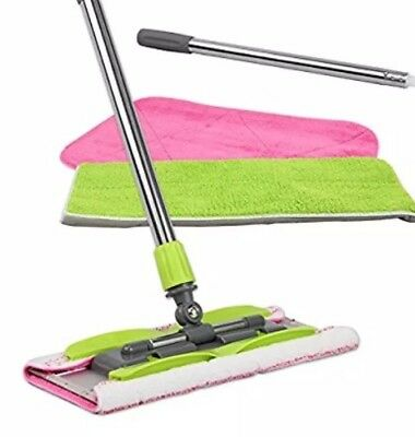 LINKYO Microfiber Hardwood Floor Mop - 3 Pads and Extension for Wet or Dry