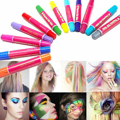 Temporary Hair Color Stick Dye Lipstick Chalk Crayons DIY Disposable Hair Wax