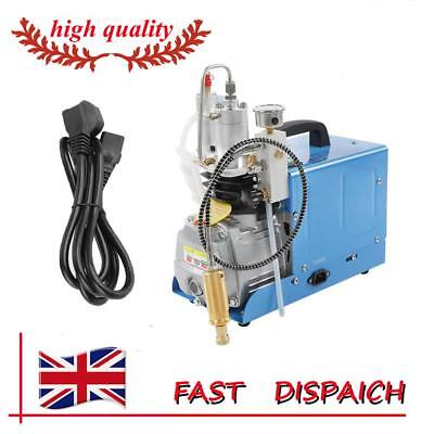 30MPa 220V Electric PCP Compressor High Pressure Air Pump UK Plug Rifle Machine