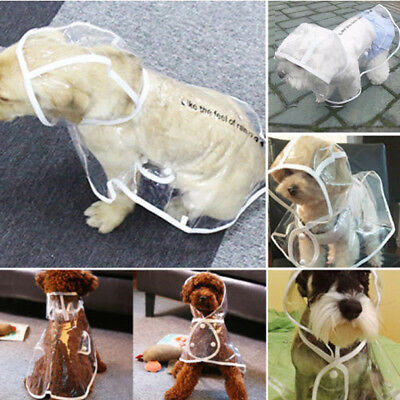 Dog Rain Coat Transparent Clear Pet Jacket for Small Large Dogs Waterproof Pets