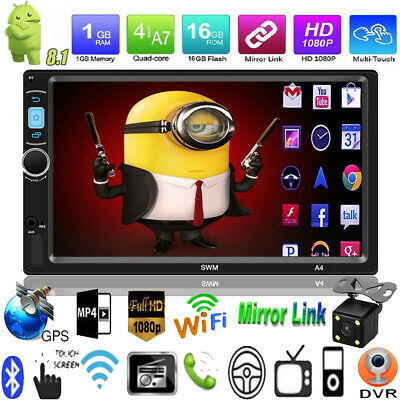 "Android 8.1 WIFI de 7"" 2 DIN Autoradio Car Estéreo MP5 Player GPS Navi FM+Cámara"