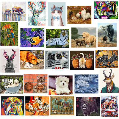 Paint By Number Kit Acrylic DIY Oil Painting On Canvas Animals Home Decor