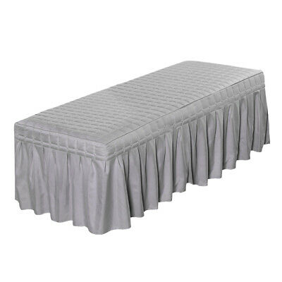 "Solid Massage Table Skirt Bed Valance Sheet Cover with Breath Hole 20"" Drop"